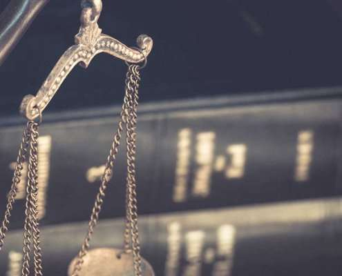 Books and the Scales of Justice